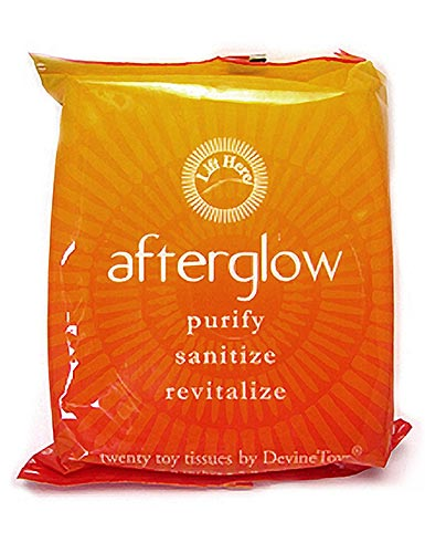 Afterglow Toy Wipes, 20-pack