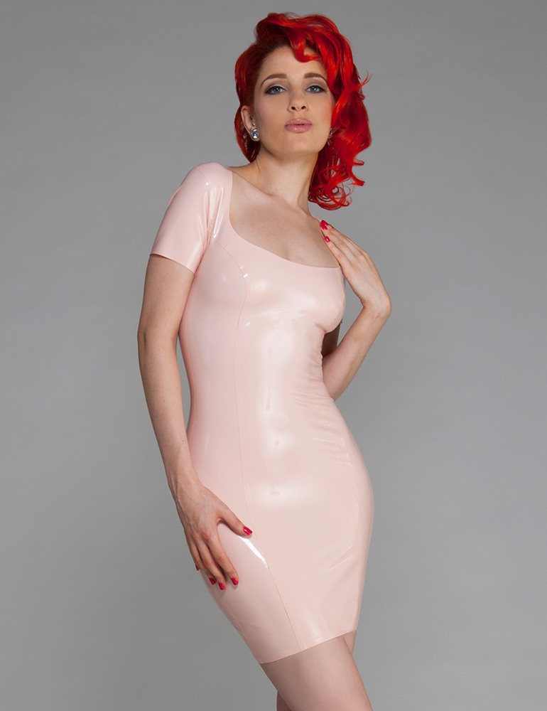 Latex Scoop Dress