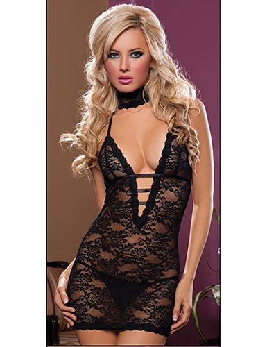 Midnight Affair 3-Piece Chemise Set