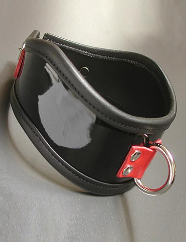 Firecracker Patent Leather Posture Collar (R)