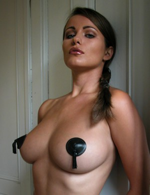 Black Leather Pasties