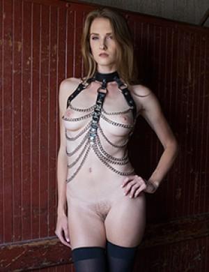 Women's Open Breast Chain Harness