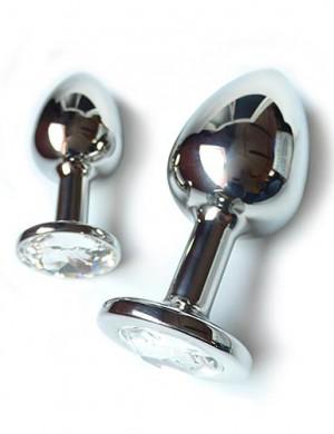 Jeweled Anal Plug w/ Swarovski Crystal
