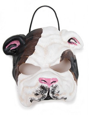Black and White Bulldog Mask