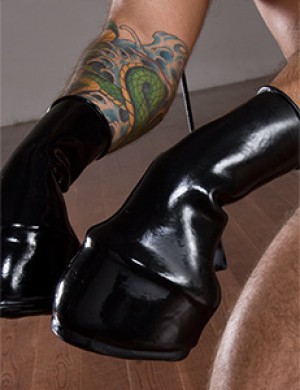 Molded Latex Pony Boots