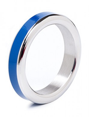 Stainless Steel Cock Ring with Color Band