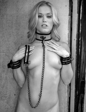 Bare Bondage Collar & Leash