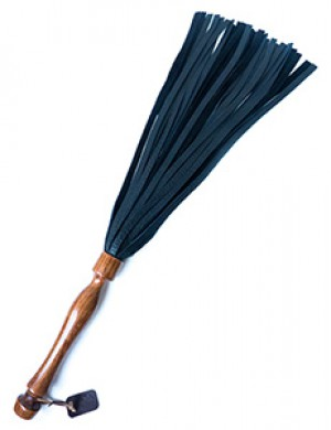Bison Flogger with Granadillo Handle by Paraphilia, 22""
