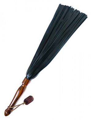 "Flogger by Paraphilia, 20"", Cowhide, Cocobolo Wood Handle"