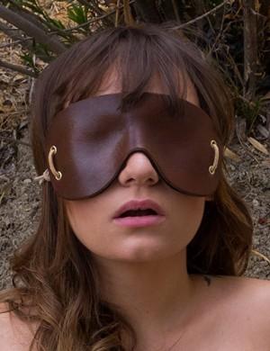 LVX Molded Leather Blindfold