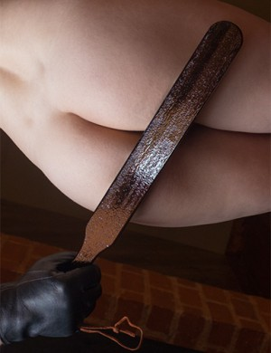 "Colleen Wooden Spanking Paddle, 18"", Wenge"