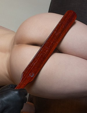 "Colleen Wooden Spanking Paddle, 18"", Padauk"