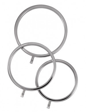 ElectraStim Solid Metal Scrotal Ring Set, 3 Sizes