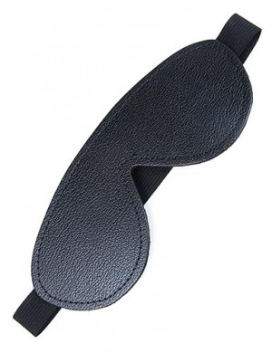 Fleece-Lined Leather Blindfold