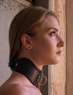 Posture female slaves collars in