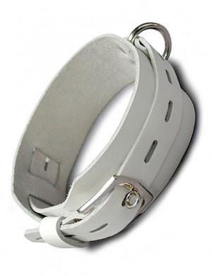 White Deluxe Buckling Collar