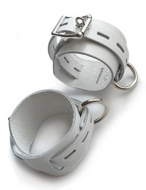 Locking/Buckling Wrist Cuffs, White