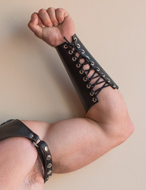 Lace-Up Leather Gauntlet
