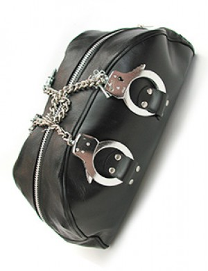 Leather Doctor Bag w/ Handcuff Handles