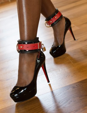 Firecracker Patent Leather Ankle Restraints