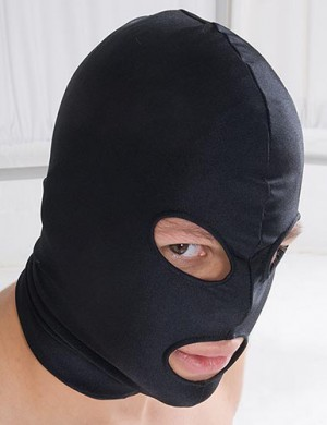 Spandex Hood with Open Mouth and Eyes