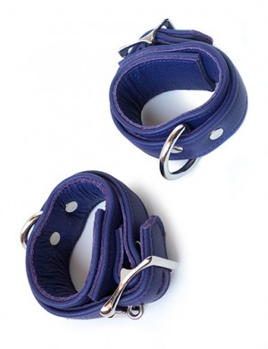 Premium Garment Leather Wrist Cuff, Purple