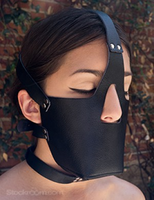 Vondage Vegan Leather Head Harness with Muzzle