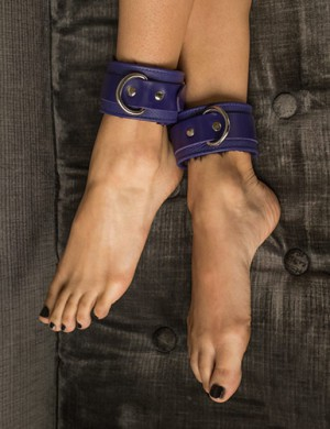 Fleece Lined Garment Leather Ankle Cuffs