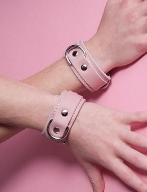 Stupid Cute Leather Wrist Cuffs