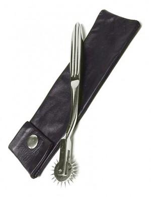 KinkLab Wartenberg Pinwheel with Leather Sheath