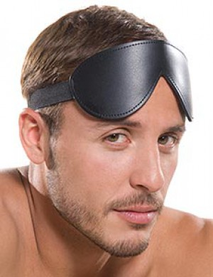 KinkLab Bondage Basics Padded Leather Blindfold