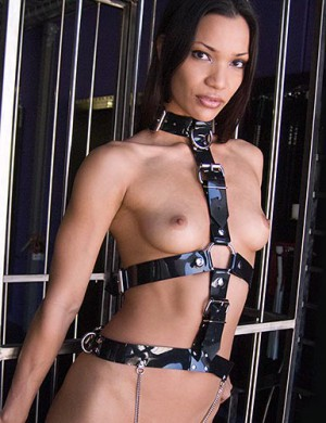 PVC Female Slave Harness