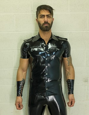 Men's Latex Uniform Shirt