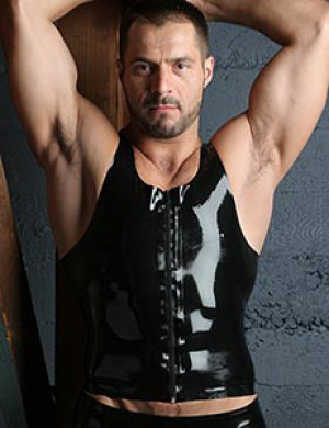 Front Zip Latex Tank Top