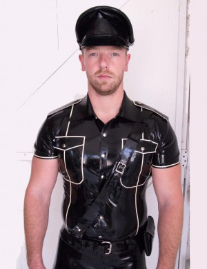 Latex Uniform Shirt w/ Piping