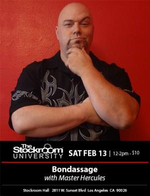 Stockroom University: Bondassage with Master Hercules