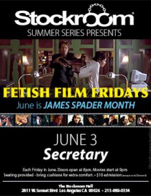 Fetish Film Fridays: James Spader Month - Secretary - 9pm, $10