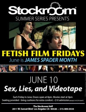 Fetish Film Fridays: James Spader Month - Sex Lies & Videotape - 9pm, $10
