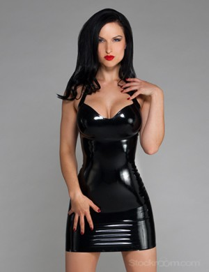Syren Latex Halter Dress - Sister Sinister