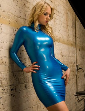 Latex Long Sleeve Mistress Dress small