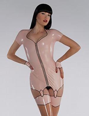 Latex Garter Dress