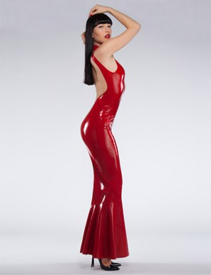 Latex Fishtail Gown small
