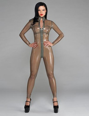 Syren Latex Front Zip Catsuit
