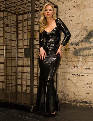 Madonna Latex Gown
