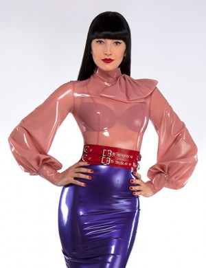 Syren Latex Garbo Blouse