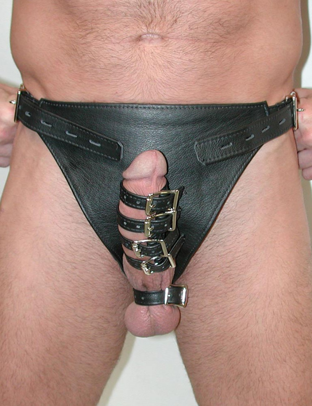 Leather Male Chastity Harness