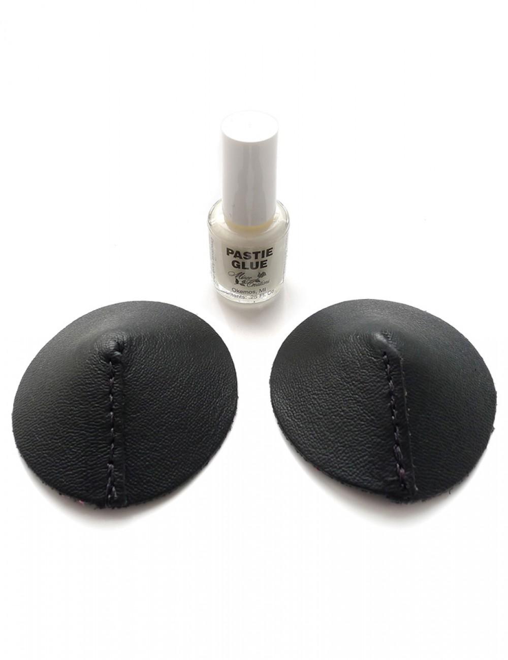 Black Leather Pasties