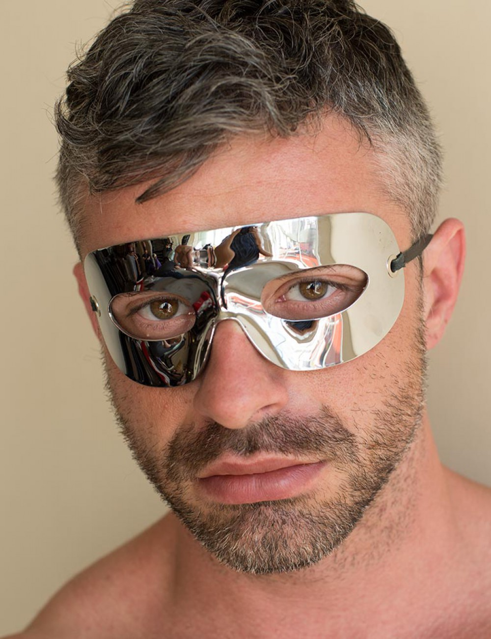 Chrome Masquerade Mask (