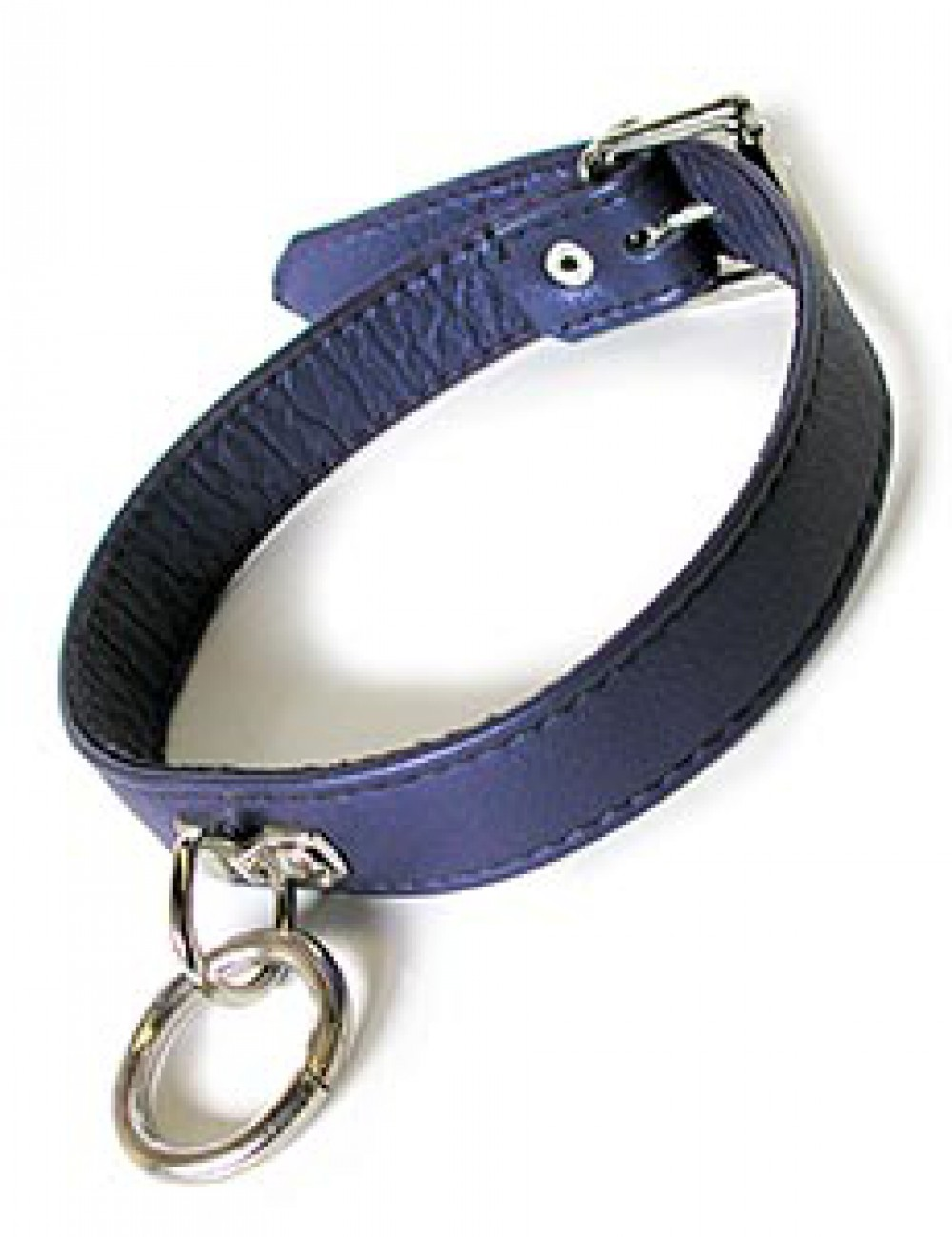 Locking Purple Leather Collar, with O-ring