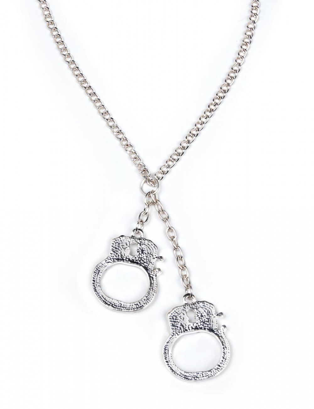 Handcuff Necklace with Rhinestones